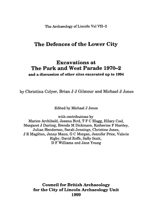 The Defences of the Lower City PDF