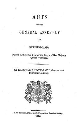 Acts of the General Assembly of Newfoundland PDF