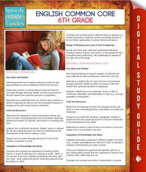 English Common Core 6th Grade  Speedy Study Guides