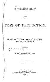 A Preliminary Report on the Cost of Production: Pig Iron, Steel Ingots, Steel Rails, Coal, Coke, Iron Ore, and Limestone ...