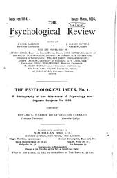 Psychological Index: Issues 1-2