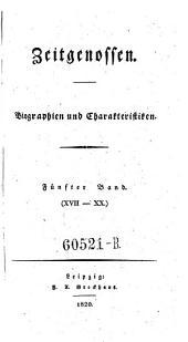 Zeitgenossen. Biographien und Charakteristiken: Band 5