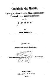 Die Geschichte der Medicin: Band 2,Teil 3