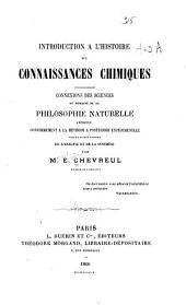 Introduction à l'histoire des connaissances chimiques