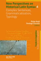 Complex Sentences, Grammaticalization, Typology