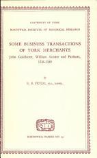 Some Business Transactions of York Merchants