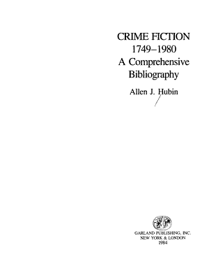 Crime Fiction  1749 1980 PDF