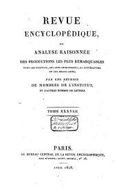 Revue encyclopédique: Volume36
