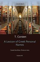 A Lexicon of Greek Personal Names PDF