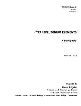 Transplutonium Elements PDF