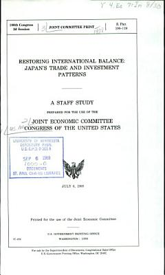 Restoring International Balance PDF