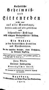 Katholische Geheimnis- und Sittenreden: Band 1;Band 3