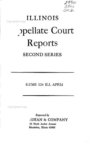 Illinois Appellate Court Reports PDF