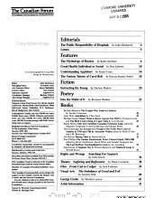 The Canadian Forum PDF
