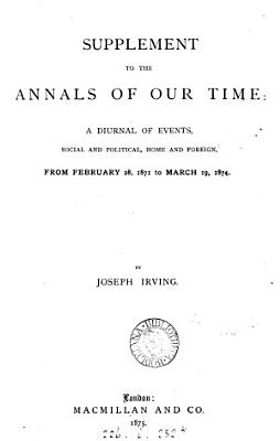 The annals of our time  1837 to 1868    With  1871 to PDF