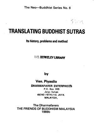 Translating Buddhist Sutras PDF