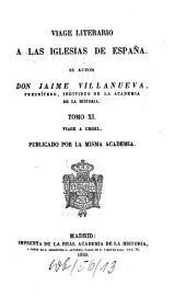 Viage literario a las iglesias de España: Viage a Urgel, Volumen 11