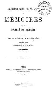 Comptes rendus hebdomadaires des séances et mémoires de la Société de biologie: Volume27