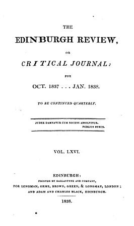 THE EDINBURGH REVIEW OR CRITICAL JOURNAL FOR OCT  1837     JAN  1838 PDF
