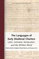 The Languages of Early Medieval Charters PDF