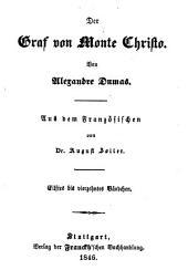 Der Graf von Monte Christo: Bände 11-14