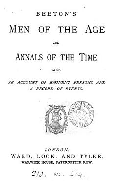 Beeton s Men of the age and annals of the time PDF