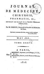 Nouveau journal de médecine, chirurgie, pharmacie, etc
