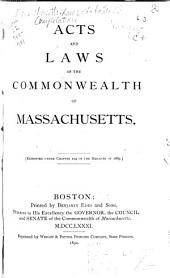 Acts and Laws of the Commonwealth of Massachusetts