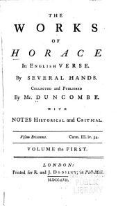 The Works of Horace in English Verse: Volume 1