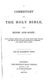 A commentary upon the holy Bible: Job to Salomon's song, Volume 3