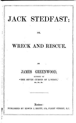 Jack Stedfast, Or, Wreck and Rescue