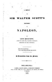 A Reply to Sir Walter Scott's History of Napoleon