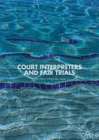 Court Interpreters and Fair Trials PDF