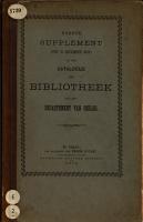 Supplement op den Catalogus der bibliotheek van het Departement van Oorlog PDF