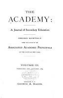 The Academy  a Journal of Secondary Education PDF
