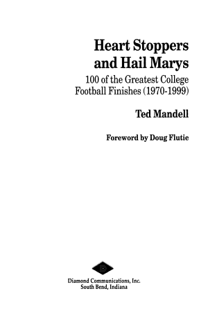 Heart Stoppers and Hail Marys PDF