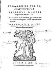 Apolloniou tou Rhodiou Argonautikon biblia