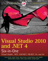 Visual Studio 2010 and  NET 4 Six in One PDF