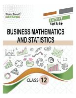 Business Mathematics And Statistics Class XII by Dr  S  K  Singh  Dr  Awadhesh Kumar Singh Sudha Singh PDF