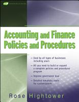 Accounting and Finance Policies and Procedures PDF