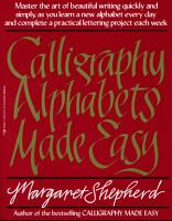 Calligraphy Alphabets Made Easy PDF