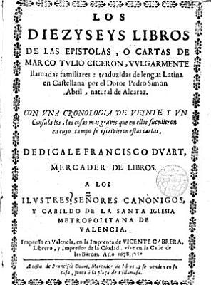 Los diezyseys libros de las epistolas  o cartas vulgarmente llamadas familiares PDF