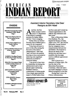 American Indian Report