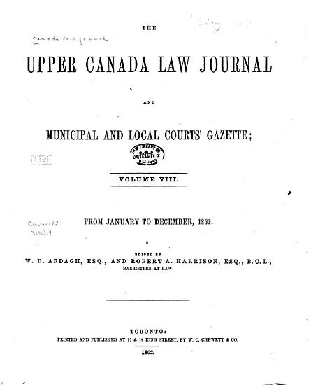 The Canada Law Journal PDF