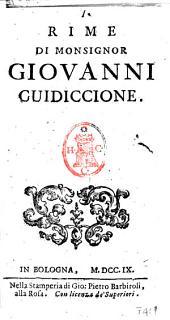 Rime di Monsignor Giovanni Guidiccione