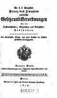 Welcher die Verordnungen vom 1  Julius bis letzten December 1796 enth  lt PDF