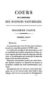 Histoire Des Sciences Naturelles: Depuis Leur Origine Jusqu'a Nos Jours, Chez Tous Les Peuples Connus, Professée Au Collége De France, Volume3