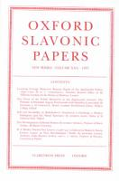 Oxford Slavonic Papers