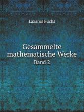 Gesammelte Mathematische Werke: Band 1