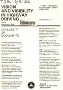 Vision and Visibility in Highway Driving PDF